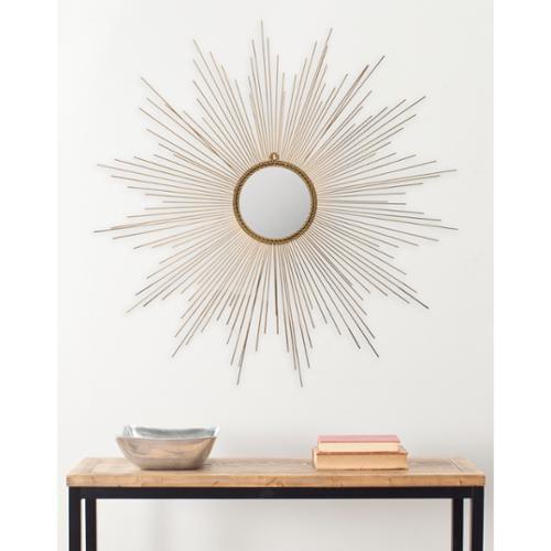 Safavieh Marinda Braided Gold 41-inch Sunburst Mirror by Overstock