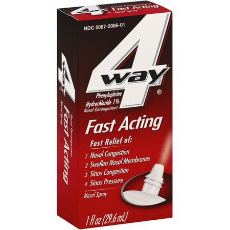 4-Way Fast Acting Nasal Spray 1 oz (Pack of 3) 4 Way Spray
