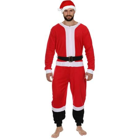 Christmas Onesie.Secret Santa Adult Mens Womens Christmas Holiday Elf Onesie Pajama