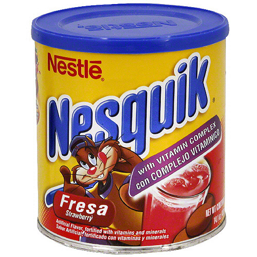 Nestle Nesquik Strawberry Drink Mix, 14.1 oz (Pack of 12)