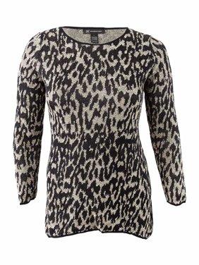 cf12728b23c4b Product Image INC International Concepts Women s Leopard-Print Tunic  Sweater (XL