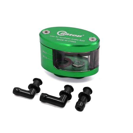 Green CNC Front Brake Clutch Master Fluid Reservoir Oil Cup for Motorcycle (Motorcycle Break Reservoir)