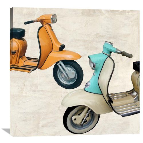 Global Gallery Superscooters II by Teo Rizzardi Graphic Art on Wrapped Canvas