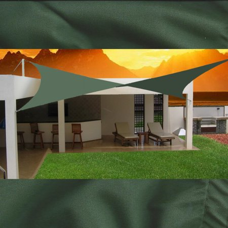 Image of BlueDot Trading Square Waterproof Shade Sail - 12ft by 12ft (Green)