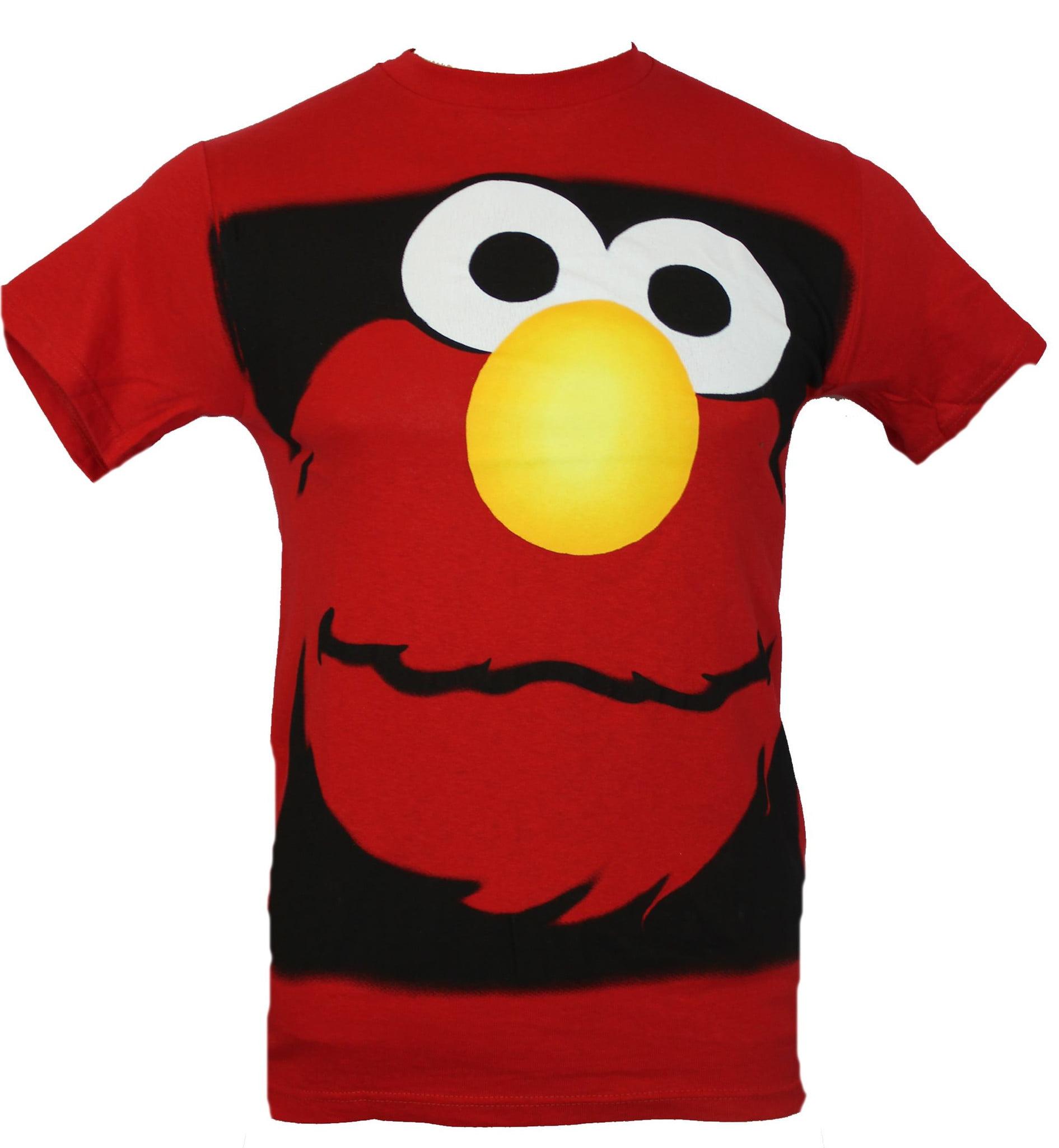 Sesame Street Elmo Face Red Mens T Shirt L Large Size New Official Merchandise