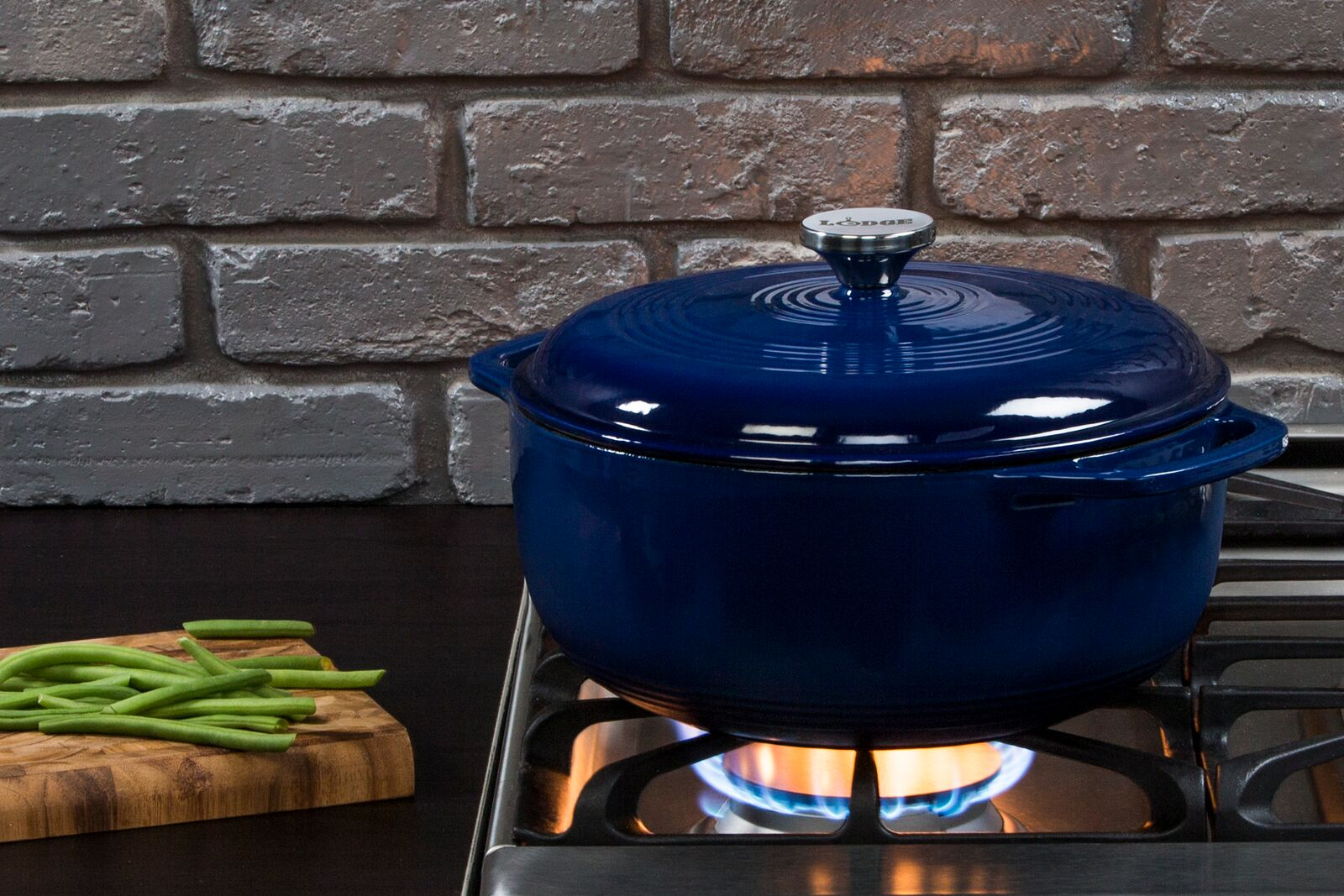 Lodge 6 qt Indigo Dutch Oven EC6D32 - Walmart.com