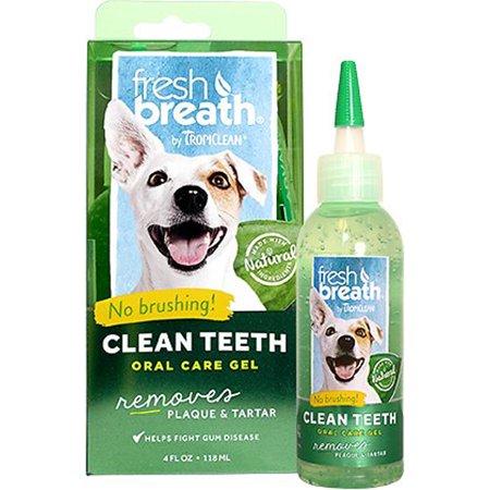 TROPICLEAN Fresh Breath Clean Teeth Gel 4 oz Dog Canine Cats Bad Breath