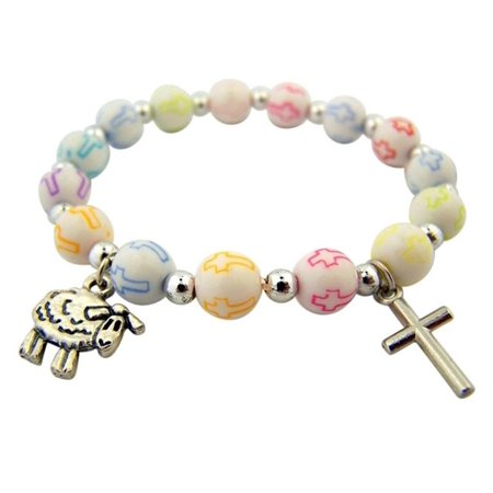 My First Penance Childs Lamb Of God Charm Stretch Bracelet, 5 - Kids Charms