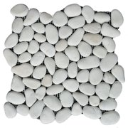 """Rainforest White Natural Pebble Floor and Wall Tile 12"""" x 12"""" (5.0 sq. ft. / case)"""