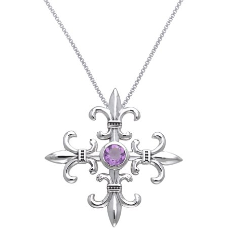 Sterling Silver and Amethyst Croix La Me