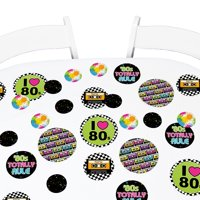 80's Retro - Totally 1980s Party Giant Circle Confetti - Party Decorations - Large Confetti 27 Count
