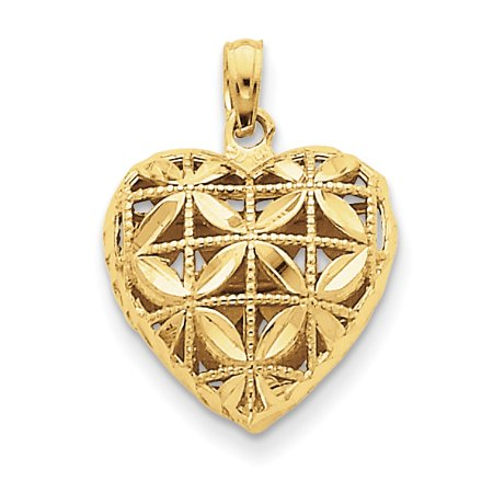 14kt Yellow Gold Heart Pendant Charm Necklace Love Fine Jewelry Ideal Gifts For Women Gift Set From Heart