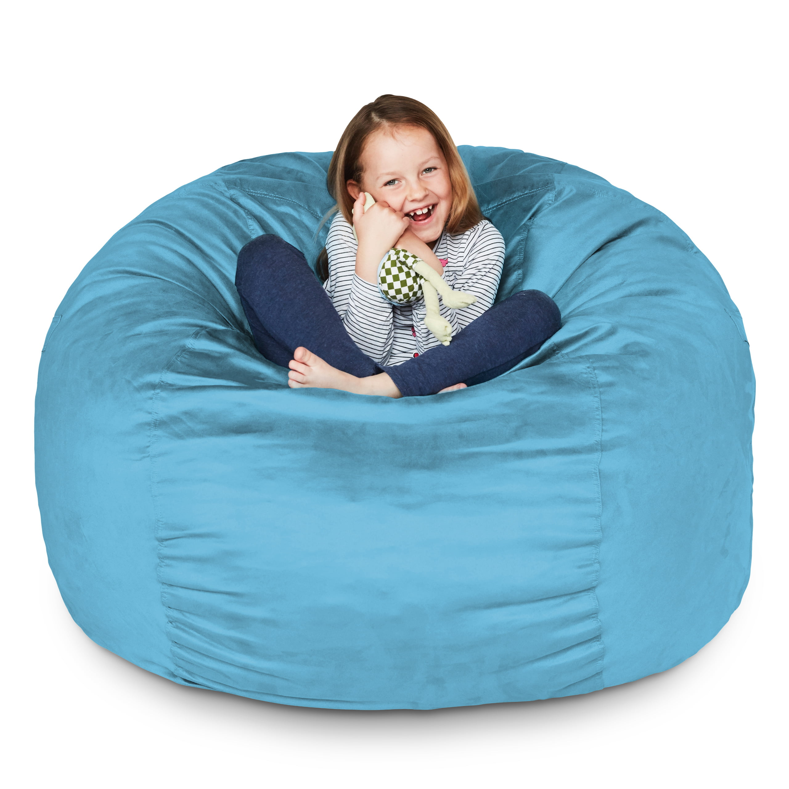 Lumaland Luxury 3-Foot Bean Bag Chair with Microsuede ...
