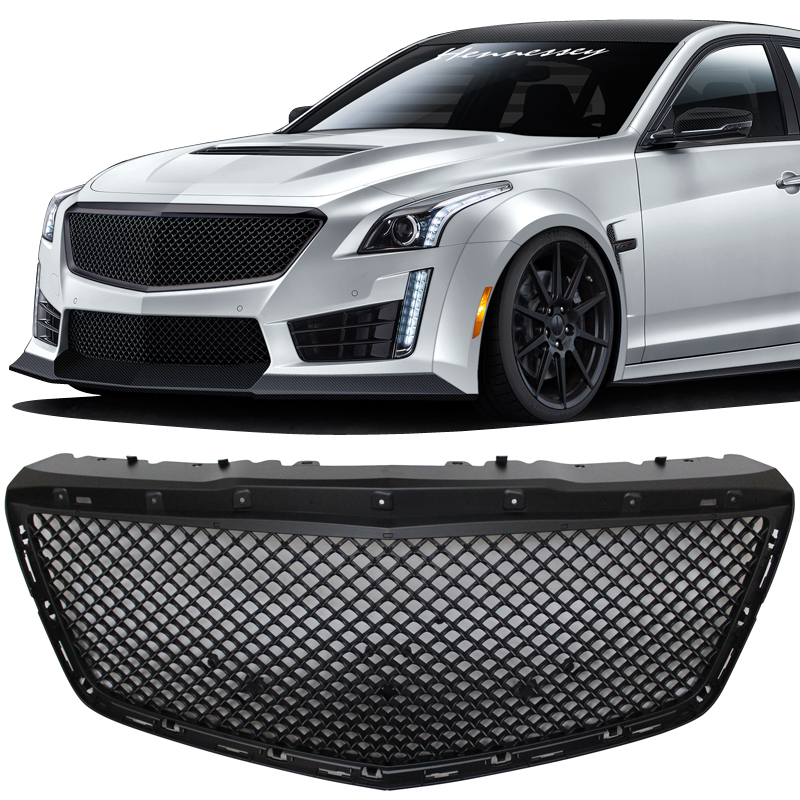 QAA fits 2014-2019 Cadillac CTS 1 Piece Stainless Front Grille Accent Trim Air Dam Insert SG54250