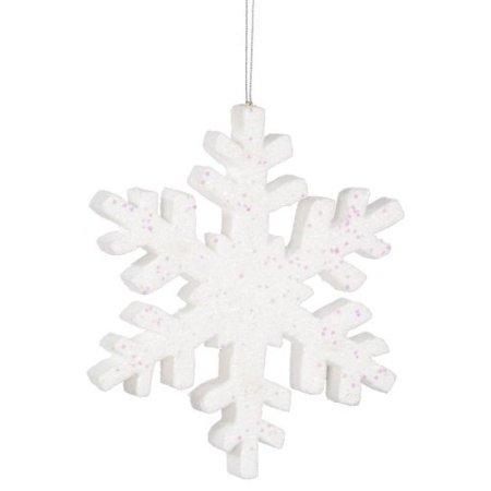 "Vickerman 36"" White Glitter Snowflake Christmas Ornament - image 1 de 1"
