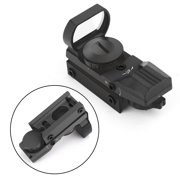 Tactical Holographic Reflex Red Green Dot Sight 4 Type Reticle for 20mm Rail BK