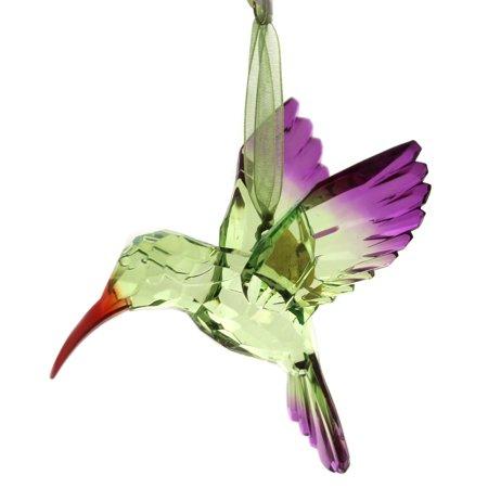 Holiday Ornaments HAPPY HEART HUMMINGBIRD Acrylic Encouragement ()