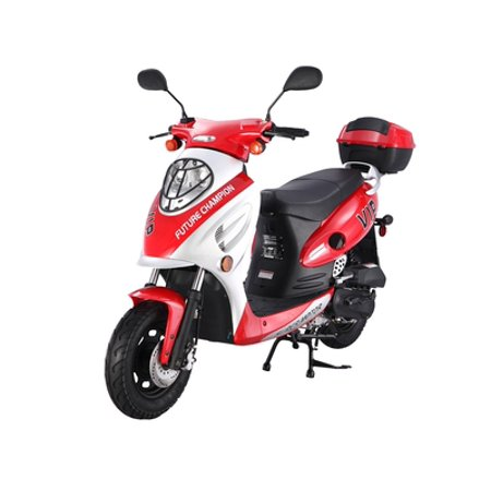 Family Gas Scooter - RED Taotao CY-50A 49cc Gas Automatic Scooter Moped Electric with Keys