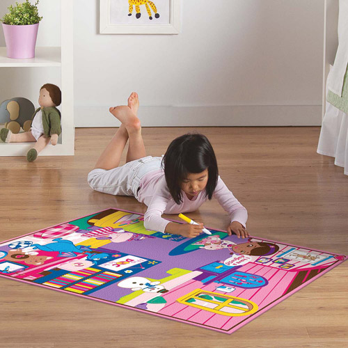 Disney Frozen Hopscotch Game Rug Multi Color 4 4 Quot X 2 2