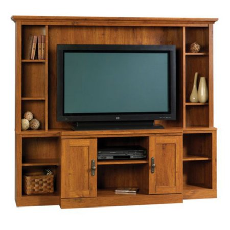 Sauder Harvest Mill Home Theater For Tvs Up To 47   Abbey Oak Finish