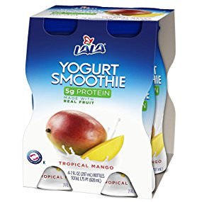 LALA Drinkable Yogurt, Tropical Mango, 7-oz, 4 Count