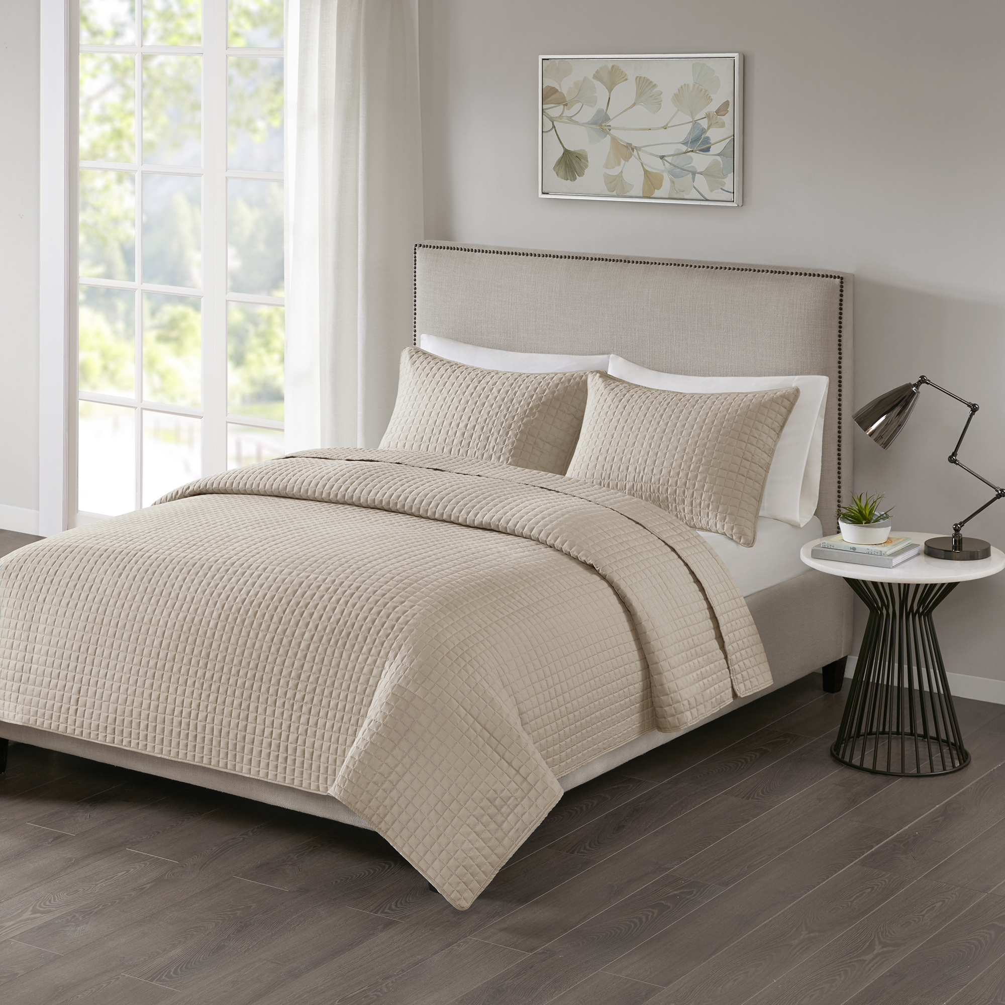 510 Design Trace 3 Piece Super Soft Quilted Coverlet Set
