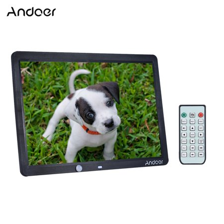 - Andoer 15 Inch Large Screen LED Digital Photo Frame Album Wall Mountable Desktop 1280 * 800 Support Remote Control with Motion Detection Sensor