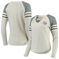 Texas A&M Aggies Concepts Sport Women's Cross Neck Raglan Long Sleeve T-Shirt - Gray/Charcoal