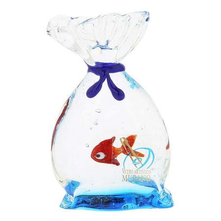 GlassOfVenice Murano Glass Aquarium Bag with Tropical