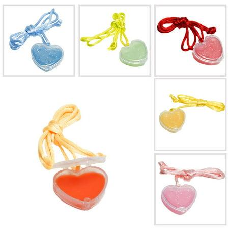 Heart Lip Gloss Necklace
