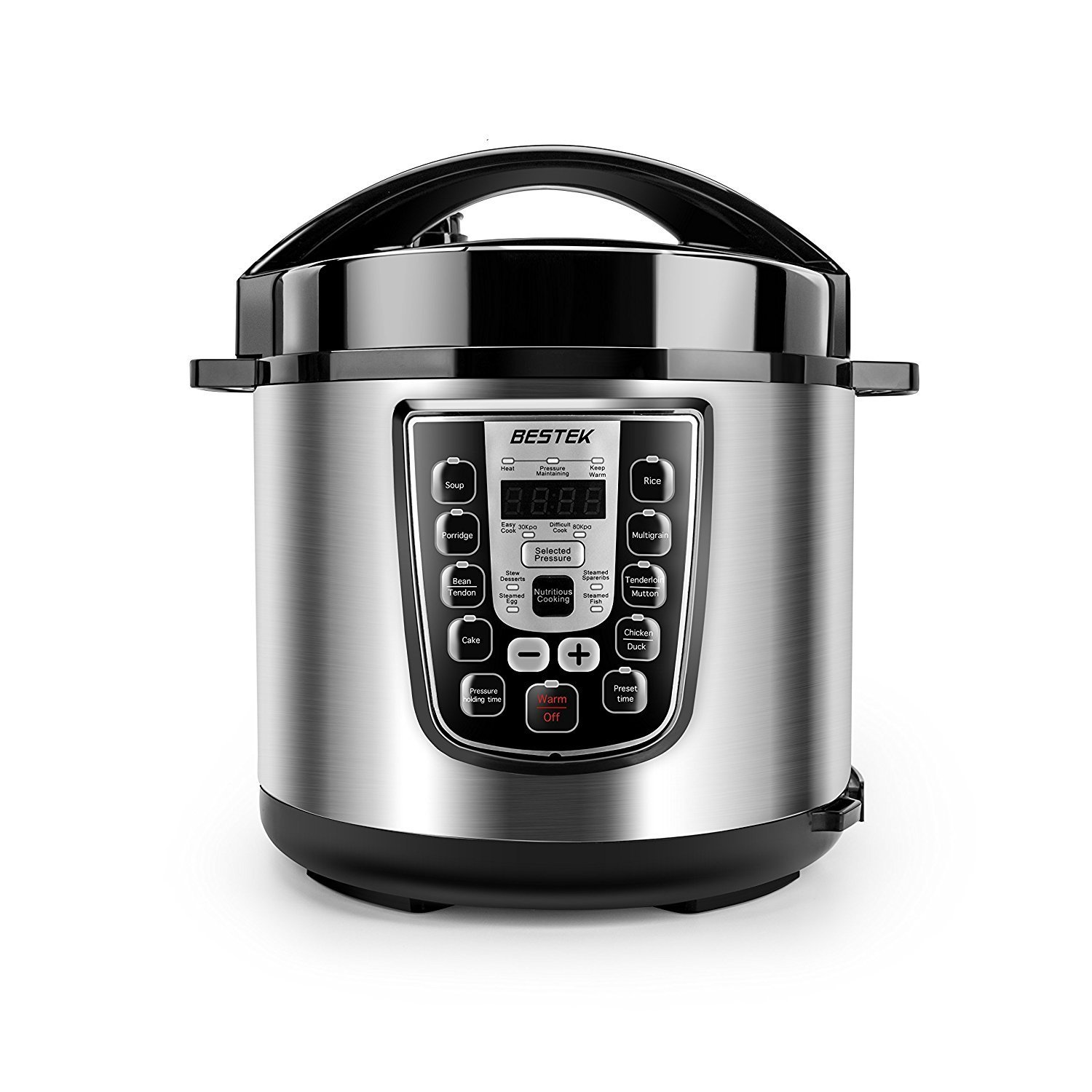 BESTEK 11-in-1 Multi-Functional Power Pressure Cooker Stainless-steel Cooking Pot, 6.3Qt/1000W, UL Certified with 10 Proven Safety Mechanisms