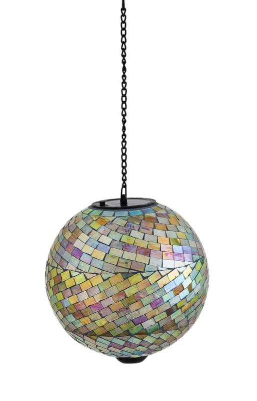 Glistening Mosaic Hanging Solar 8-in. Gazing Ball by Evergreen