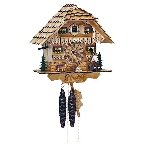 Schneider 10 Inch Wood House Black Forest Cuckoo Clock