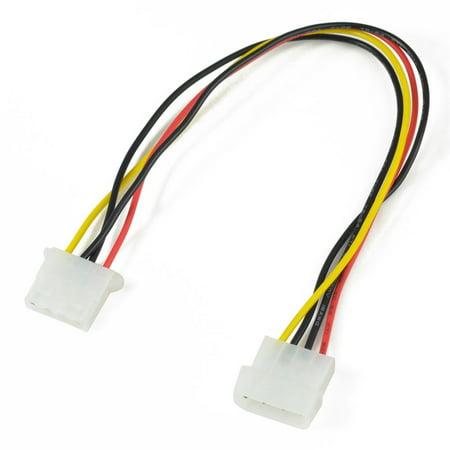 4 Pin Molex Male connector to 4 Pin Molex Female Connector - Power Cable 16 Pin Molex Connector
