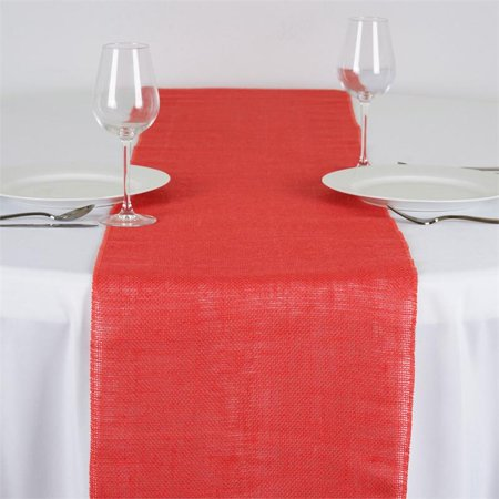 "BalsaCircle 14"" x 108"" Burlap Jute Table Top Runner - Wedding Party Reception Linens Dinner Event Decorations"