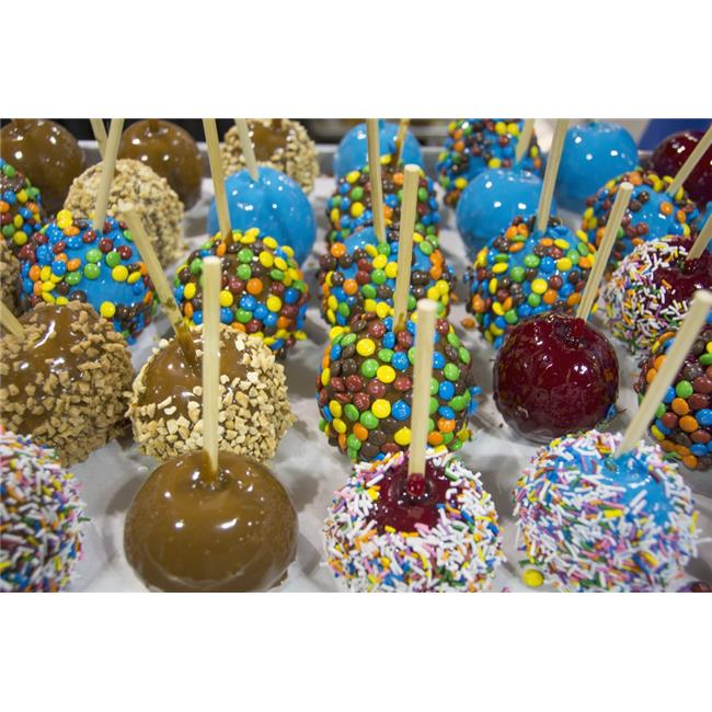 Posterazzi DPI12252493 Close-Up of Multi-Coloured Candy Apples - Calgary Alberta Canada Poster Print - 19 x 12 in. - image 1 of 1