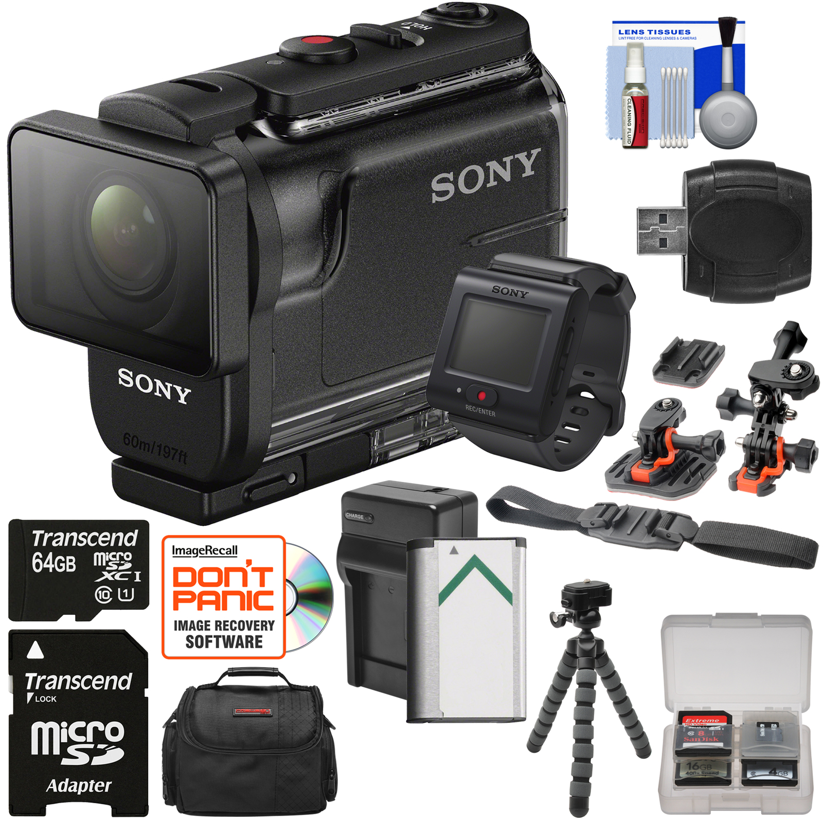 Sony Action Cam HDR-AS50R Wi-Fi HD Video Camera Camcorder...
