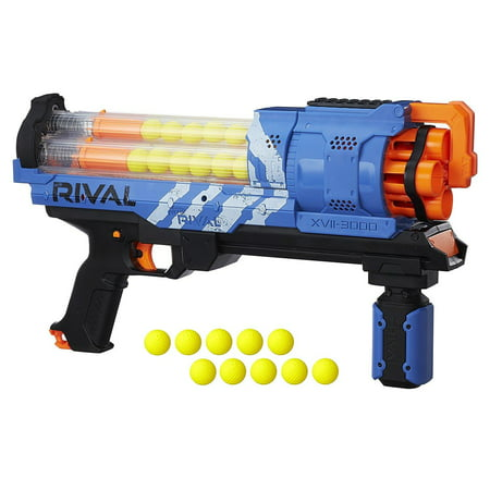 Nerf Rival Artemis XVII-3000 Blue Blaster with 30 Nerf Rival (Best Nerf Gun Under 20 Dollars)