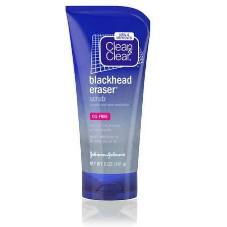 (2 pack) Clean & Clear Blackhead Eraser Facial Scrub with Salicylic Acid, 5 oz