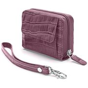 Winn 946514C Faux Croc Embossed Accordion Wallet - Purple