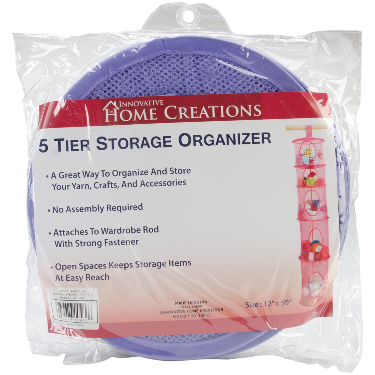 """5 Tier Storage Organizer 12""""X59""""-Lilac"""