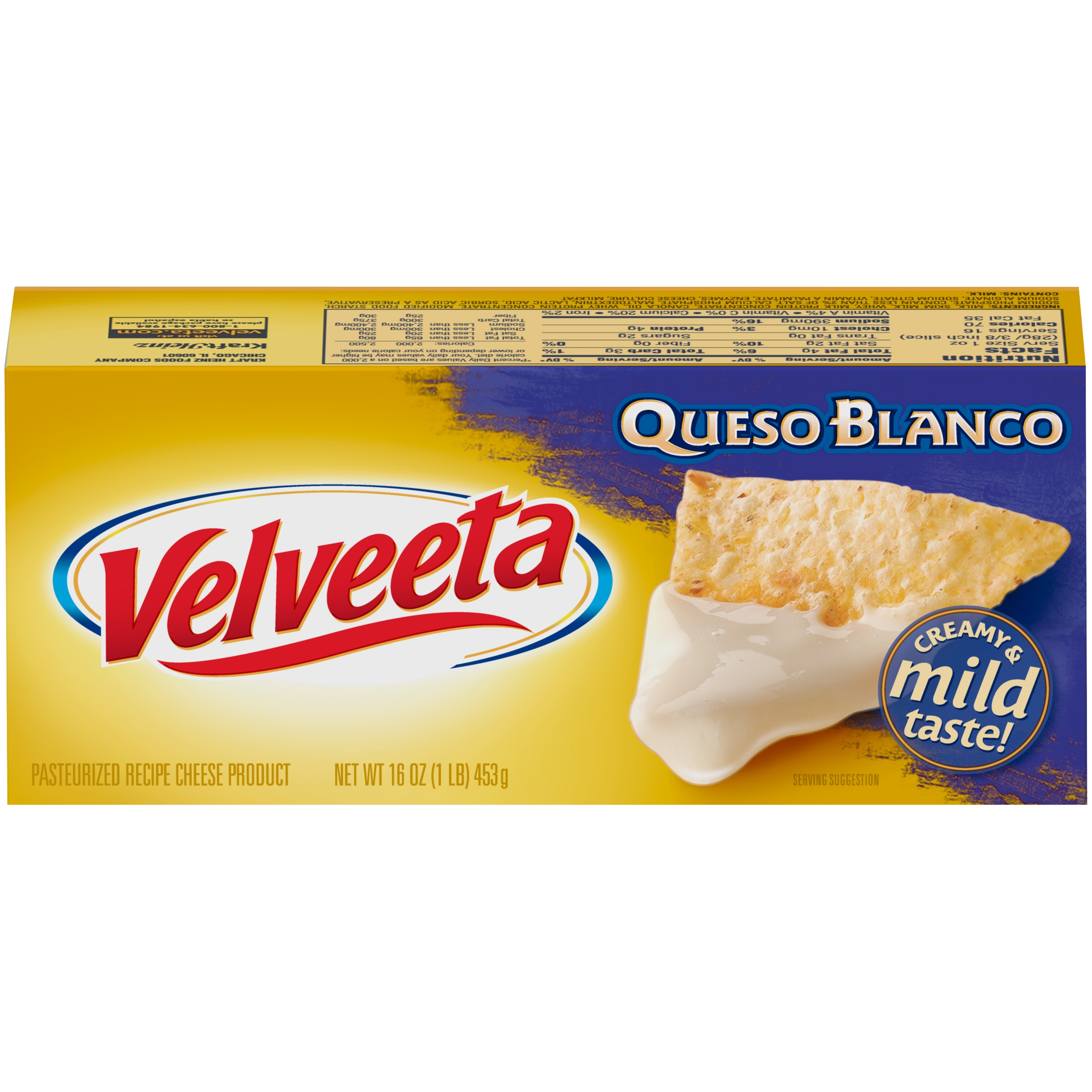 Velveeta Queso Blanco Cheese 16 oz. Box