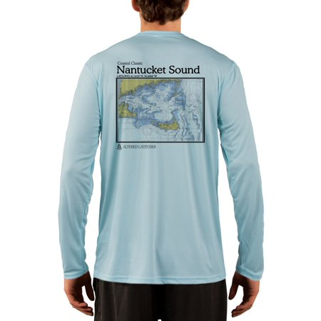 31fd082160 Nantucket Sound Chart Men's UPF 50+ UV/Sun Protection Long Sleeve T ...