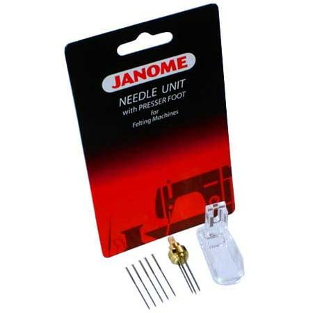 Janome Felting Machine Needle Clamp with Needles and Foot - Needle Felting Machine