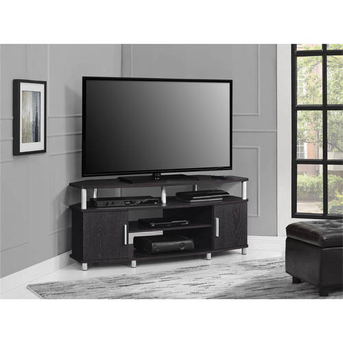 "Ameriwood Home Carson Corner TV Stand for TVs up to 50"" Wide, Black/Cherry"