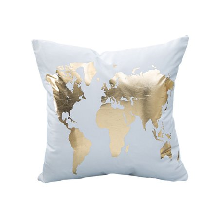 Tommyfit Modern Golden Silver Printing Sofa Bed Waist Throw Pillow Case Home Car Decoration ()