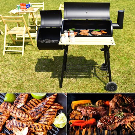 Outdoor BBQ Grill Charcoal Barbecue Pit Patio Backyard Cooker Smoker - image 10 of 10