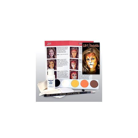 Cat or Animal Professional Face Paint and Make up Kit, Contains all you need for creating a beautiful face painted cat or animal. By Mehron