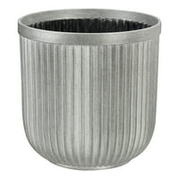 Better Homes & Gardens Ellan Faux Galvanized Plastic Planter, 12""