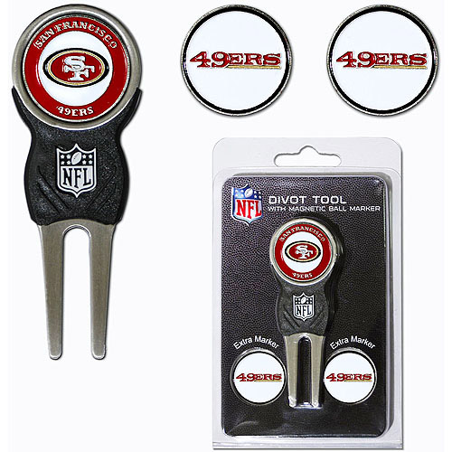 Team Golf NFL San Francisco 49Ers Divot Tool Pack With 3 Golf Ball Markers